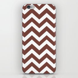 Medium Tuscan red - purple color - Zigzag Chevron Pattern iPhone Skin