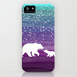 Bears from the Purple Dream iPhone Case