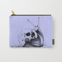 This Skull Is My Home (Snail & Skull) - Pastel Purple & Black Carry-All Pouch