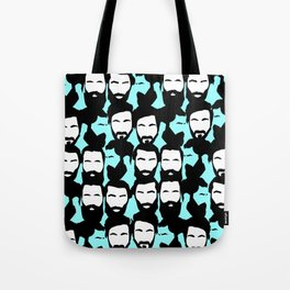 beards are sexy_blue Tote Bag
