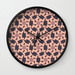 Digital Geometric Motif Rose palette Wall Clock
