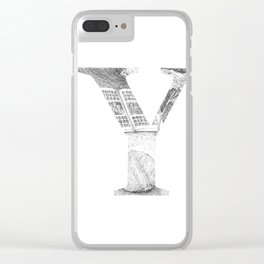 Letter Y Clear iPhone Case