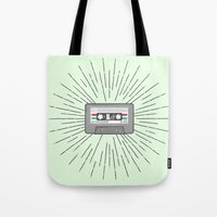 tape Tote Bags featuring Tape by Colleen Sweeney