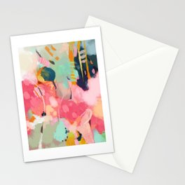 spring moon earth garden Stationery Cards