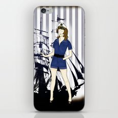 Navy Girl iPhone & iPod Skin