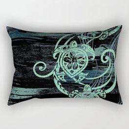 Abstract Tribal Turtles Rectangular Pillow