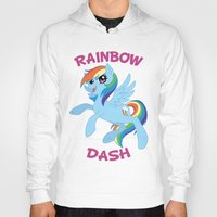mlp Hoodies featuring MLP FiM: Rainbow Dash by Yiji