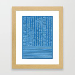 Digital Stitches detail 1 blue Framed Art Print