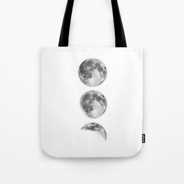 Full Moon cycle black-white photography print new lunar eclipse poster bedroom home wall decor Tote Bag