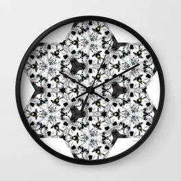 KALEIDOSCOPE Wolf vs Bird Wall Clock