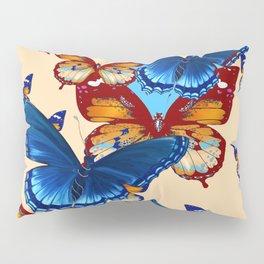 #2 MODERN ART DECORATIVE BLUE-BROWN  BUTTERFLIES Pillow Sham