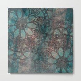 Stencilled rosettes Metal Print