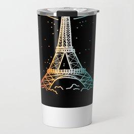 Le Magique De Paris (the magic of...) French Artwork, Eiffel Tower Print Travel Mug