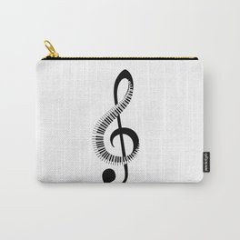 Treble clef sign with piano keyboard Carry-All Pouch