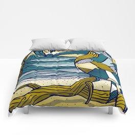Costa Rica Polygonal Beach Print Pura Vida Comforters