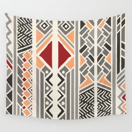 Tribal ethnic geometric pattern 034 Wall Tapestry