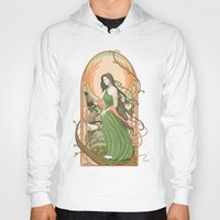 art nouveau Hoodies featuring art nouveau by Thierry