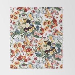 Summer Garden V Throw Blanket