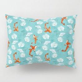 Waterlily koi in turquoise Pillow Sham