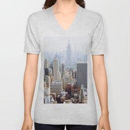 New York City Skyline Unisex V-Neck