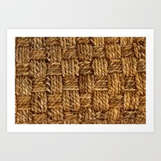 HEMP PATTERN Art Print