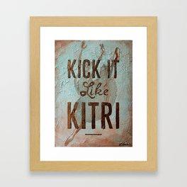 Kick it Like Kitri Framed Art Print