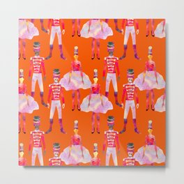 Nutcracker Ballet - Orange Metal Print