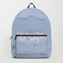 Rustic pale blue parchment paper Backpack