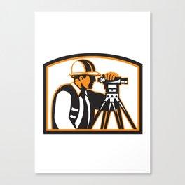 Surveyor Geodetic Engineer Survey Theodolite Canvas Print