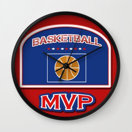 MVP Basketball board Wall Clock