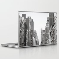 broadway Laptop & iPad Skins featuring Broadway - NY by Basma Gallery