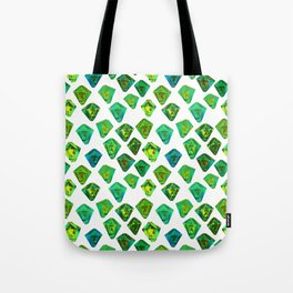 Green gemstone pattern. Tote Bag