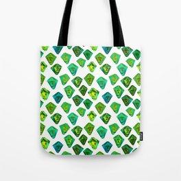 Green gemstone pattern. Tote Bag