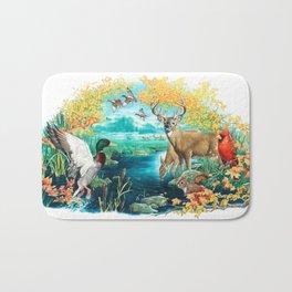 Woodland Collage Bath Mat