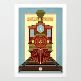 California State Railroad Museum Art Print