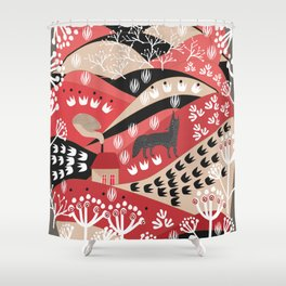 Wolf's Promise Land Shower Curtain