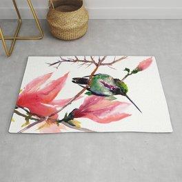 Hummingbird and Magnolia Rug