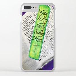Feed Our Faith Clear iPhone Case