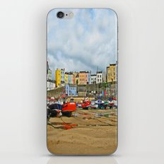 Tenby Harbour . Sunlight. Pembrokeshire. Wales. iPhone & iPod Skin