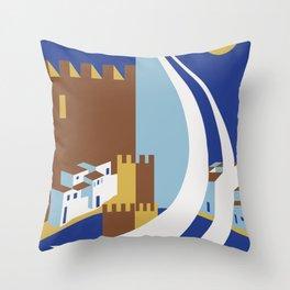 Come to the islands retro travel Throw Pillow