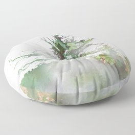 Where the sea sings to the trees - 1 Floor Pillow