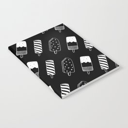 Summer Ice Lollies (Black) Notebook