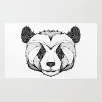 andreas preis Area & Throw Rugs featuring Panda by Andreas Preis