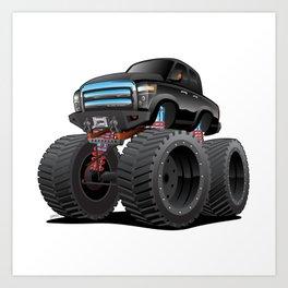 Monster Pickup Truck Cartoon Art Print