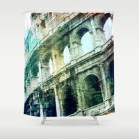 rome Shower Curtains featuring Rome by Shannyn DeArment-Howard