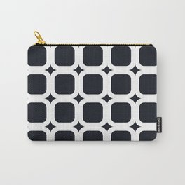 RoundSquares White on Black Carry-All Pouch