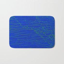 Stone electric blue Bath Mat
