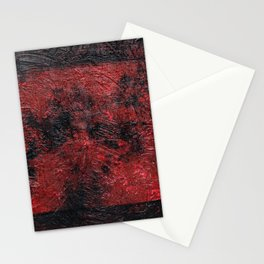 Smoldering (Red Abstract) Stationery Cards