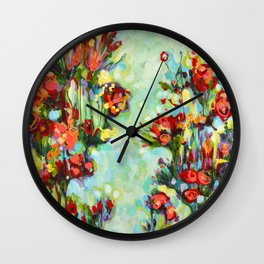 Jardin anglais  version 2-2015 de ÖMISERANY Wall Clock