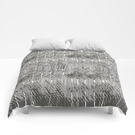 Gray abstract background Comforters